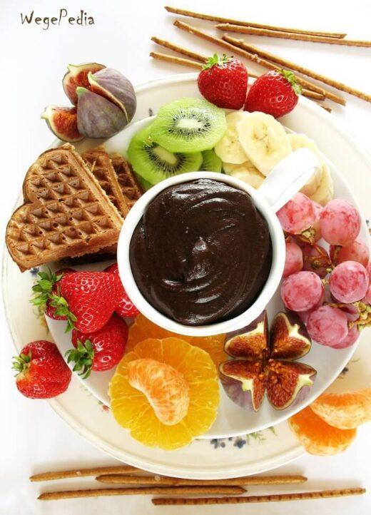 Fit FONDUE czekoladowe z owocami, na zimno, wegańskie