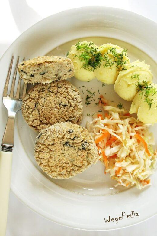 Kotlety bezrybne, wegańskie a la rybne, pieczone / smażone
