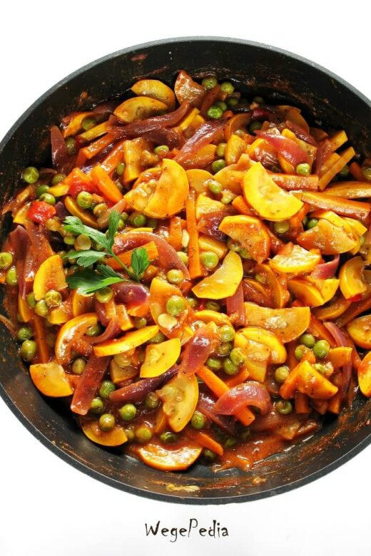 Warzywa na patelnię z salsą, smażone bez tłuszczu, szybkie
