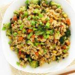 Smażony ryż zwarzywami pochińsku, fit, wegański