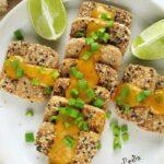 Tofu smażone beztłuszczu wpanierce zsezamem