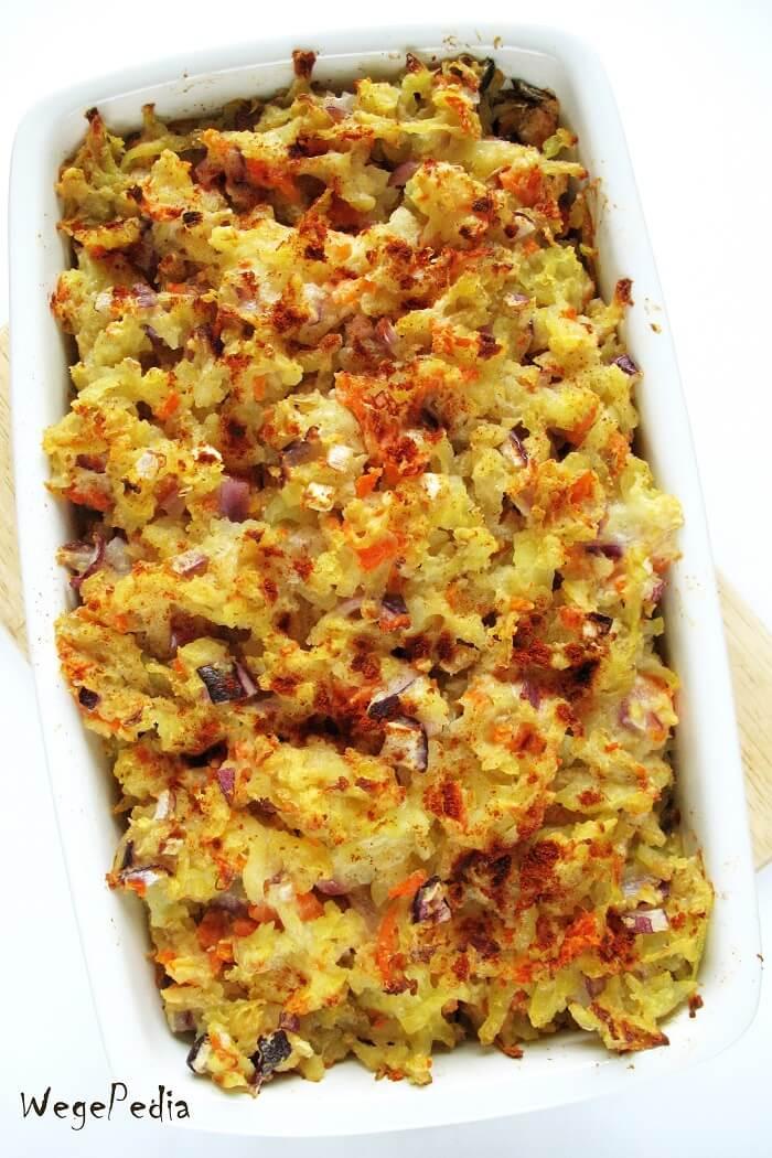 Zapiekanka ziemniaczana z cebulą, fit ziemniaki Romanoff