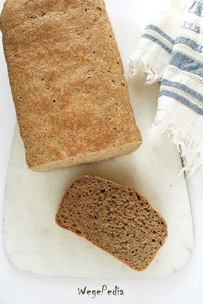 Najłatwiejszy chleb pszenny pełnoziarnisty, dla leniwych