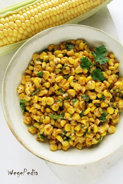 Smażona kukurydza z kolby lub z puszki