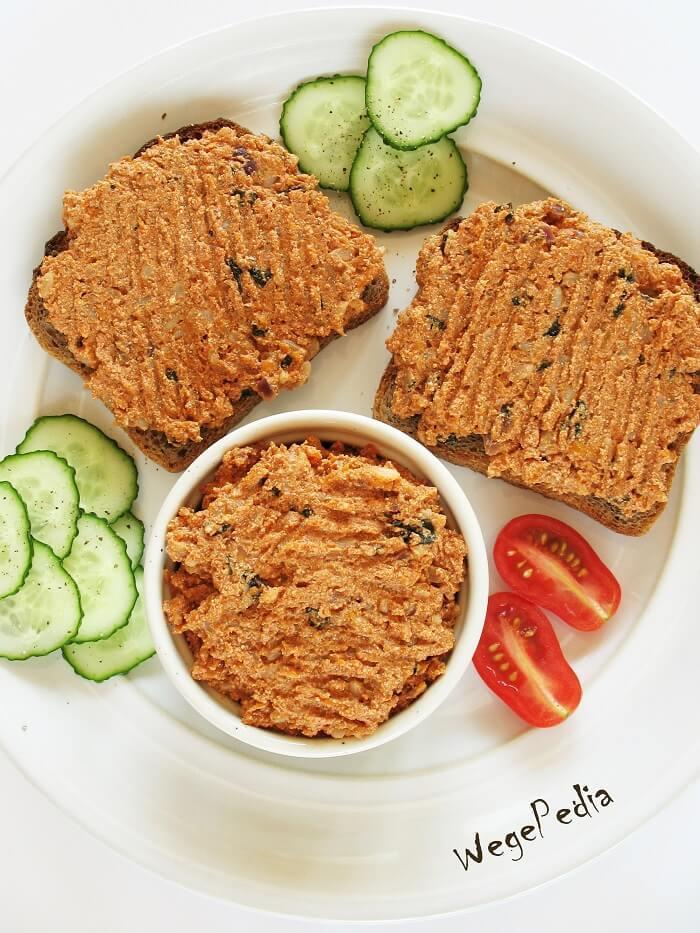 Paprykarz szczeciński wegański / wegetariański, przepis