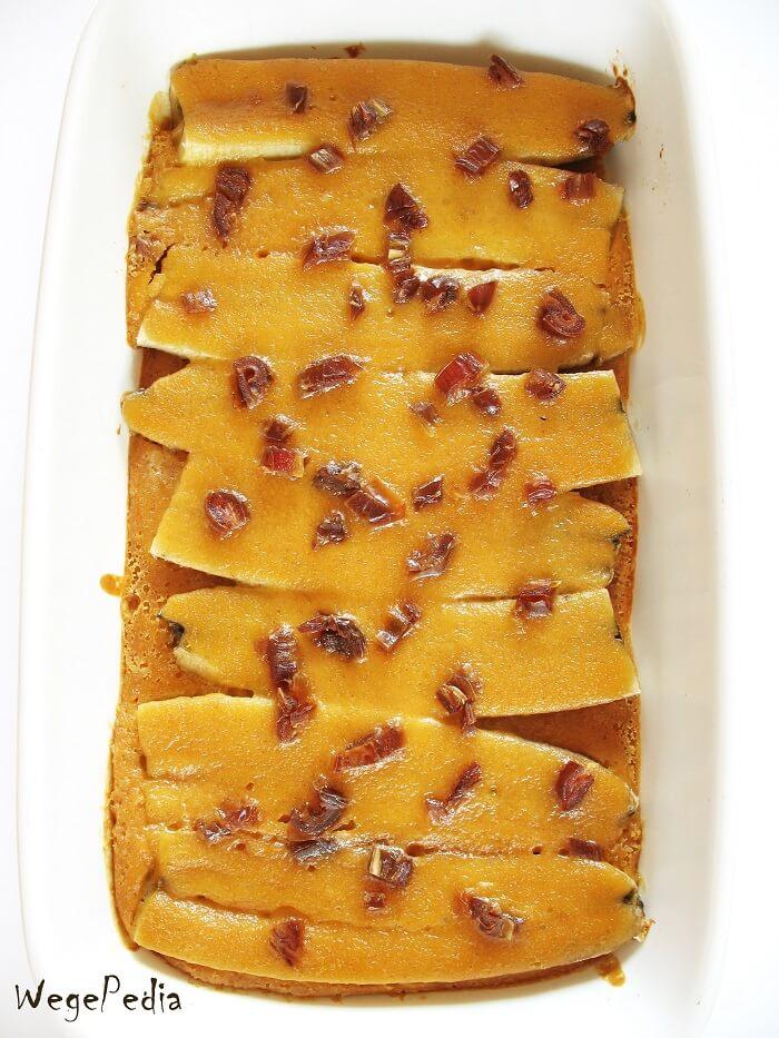 Pieczone banany z masłem orzechowym, przepis wegański
