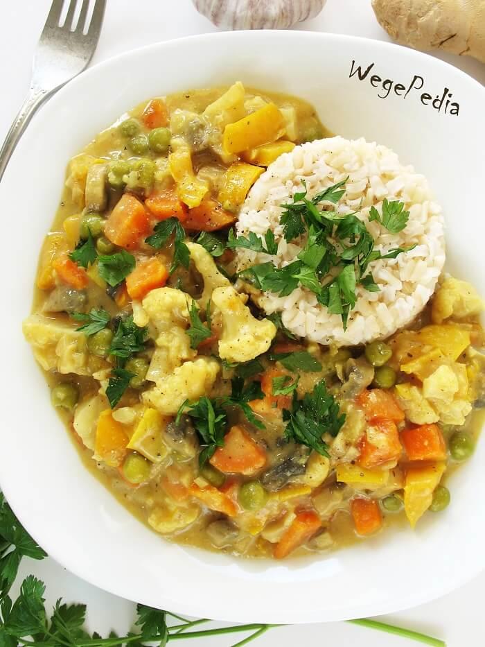 Warzywa curry / dietetyczny gulasz indyjski